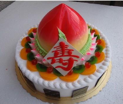 包 装:蛋糕盒,附送贺卡,刀,叉,盘,蜡烛一套 祝 语:福如东海,寿比南山